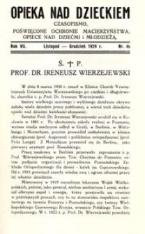 Opieka nad Dzieckiem : czasopismo, poświęcone ochronie macierzyństwa, opiece nad dziećmi i młodzieżą, 1929, R. 7, nr 6