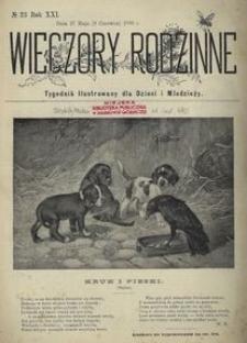 Wieczory Rodzinne. Tygodnik Ilustrowany dla Dzieci i Młodzieży 1900, nr 23