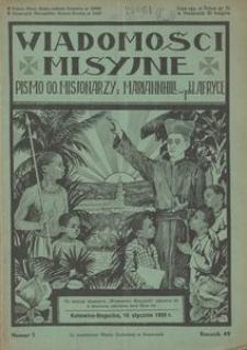 Wiadomości Misyjne, 1939, R. 49, nr 1