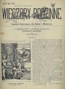 Wieczory Rodzinne. Tygodnik Ilustrowany dla Dzieci i Młodzieży 1900, nr 25