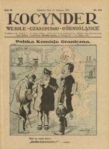 Kocynder, 1922, R. 3, nr 13
