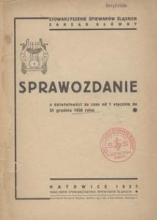Sprawozdanie z działalności za czas od 1 stycznia do 31 grudnia 1936 roku