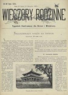Wieczory Rodzinne. Tygodnik Ilustrowany dla Dzieci i Młodzieży 1900, nr 32