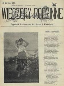 Wieczory Rodzinne. Tygodnik Ilustrowany dla Dzieci i Młodzieży 1900, nr 35