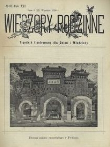 Wieczory Rodzinne. Tygodnik Ilustrowany dla Dzieci i Młodzieży 1900, nr 38