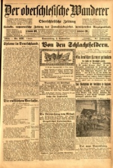 Der Oberschlesische Wanderer, 1914, Jg. 87, nr256