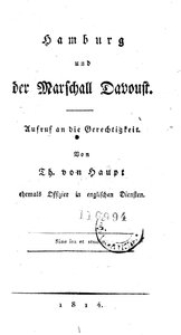 Hamburg und der Marschall Davoust