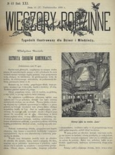 Wieczory Rodzinne. Tygodnik Ilustrowany dla Dzieci i Młodzieży 1900, nr 43