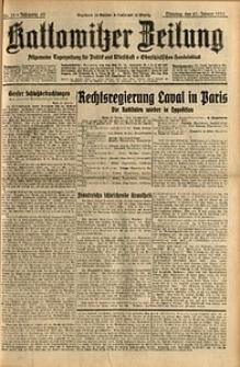 Kattowitzer Zeitung, 1931, Jg. 63, nr21