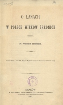 O łanach w Polsce wieków średnich