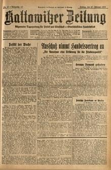 Kattowitzer Zeitung, 1931, Jg. 63, nr47