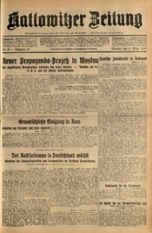 Kattowitzer Zeitung, 1931, Jg. 63, nr49
