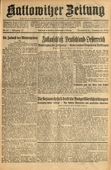 Kattowitzer Zeitung, 1931, Jg. 63, nr66