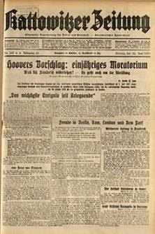 Kattowitzer Zeitung, 1931, Jg. 63, nr141