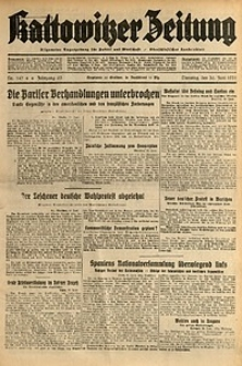 Kattowitzer Zeitung, 1931, Jg. 63, nr147
