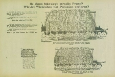 Ile siana łąkowego straciły Prusy? = Wieviel Wiesenheu hat Preussen verloren?