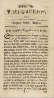 Schlesische Provinzialblätter, 1787, 5. Bd., 6. St.: Junius