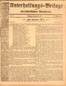 Unterhaltungs-Beilage zum oberschlesischen Wanderer, 1914, Jg. 87, nr8