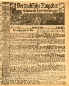 Der praktische Ratgeber für Haus- und Landwirtschaft, 1914, Jg. 6, nr 8