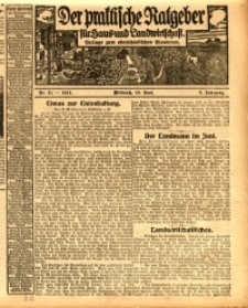 Der praktische Ratgeber für Haus- und Landwirtschaft, 1914, Jg. 6, nr 11