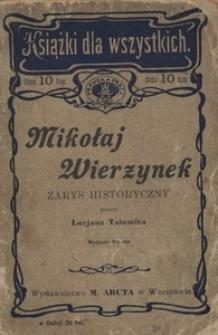 Mikołaj Wierzynek. Zarys historyczny. - Wyd. 3