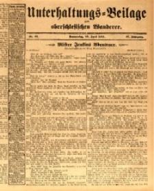 Unterhaltungs-Beilage zum oberschlesischen Wanderer, 1914, Jg. 87, nr92