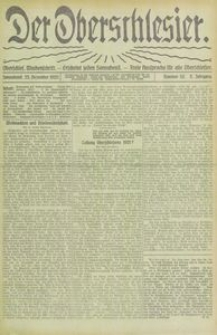 Der Oberschlesier, 1920, Jg. 2, Nr. 52