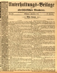 Unterhaltungs-Beilage zum oberschlesischen Wanderer, 1914, Jg. 87, nr255