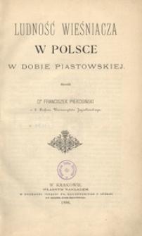 Ludność wieśniacza w Polsce w dobie piastowskiej