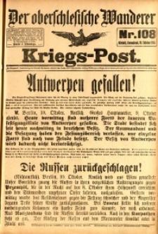 Kriegs-Post, 1914, Jg. 1, nr108