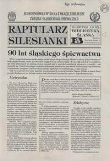 Raptularz Silesianki, 10 listopada 2000