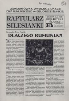 Raptularz Silesianki, 28 maja 2001