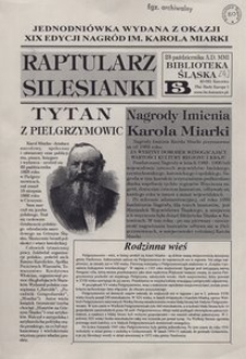 Raptularz Silesianki, 23 października 2001