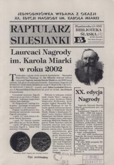 Raptularz Silesianki, 23 października 2002