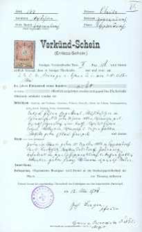 Akt zawarcia małżeństwa z 17.05.1908 r.