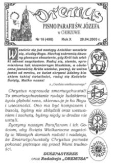 Oremus, 2003, R.10, nr16 (498)