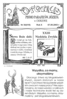 Oremus, 2003, R.10, nr36 (518)