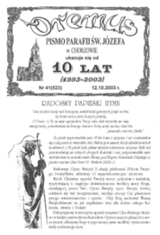 Oremus, 2003, R.10, nr41 (523)