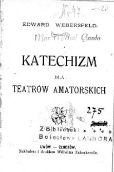 Katechizm dla teatrów amatorskich