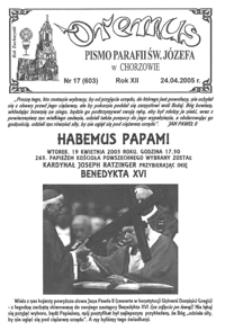 Oremus, 2005, R.12, nr17 (603)