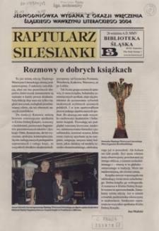 Raptularz Silesianki, 26 września 2005