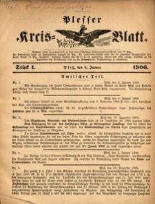 Plesser Kreis-Blatt, 1906, St.1