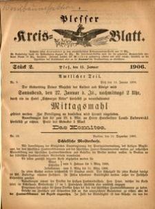 Plesser Kreis-Blatt, 1906, St.2