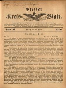 Plesser Kreis-Blatt, 1906, St.16