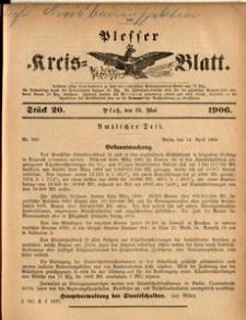 Plesser Kreis-Blatt, 1906, St.20