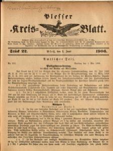 Plesser Kreis-Blatt, 1906, St.22