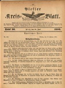 Plesser Kreis-Blatt, 1906, St.26