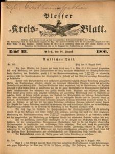Plesser Kreis-Blatt, 1906, St.33