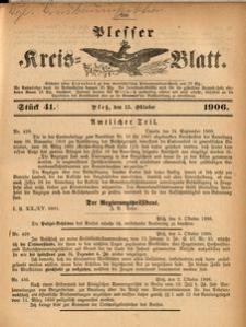 Plesser Kreis-Blatt, 1906, St.41