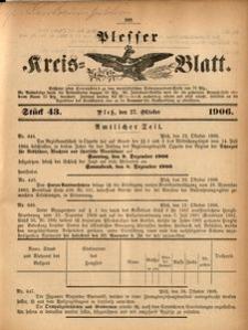 Plesser Kreis-Blatt, 1906, St.43